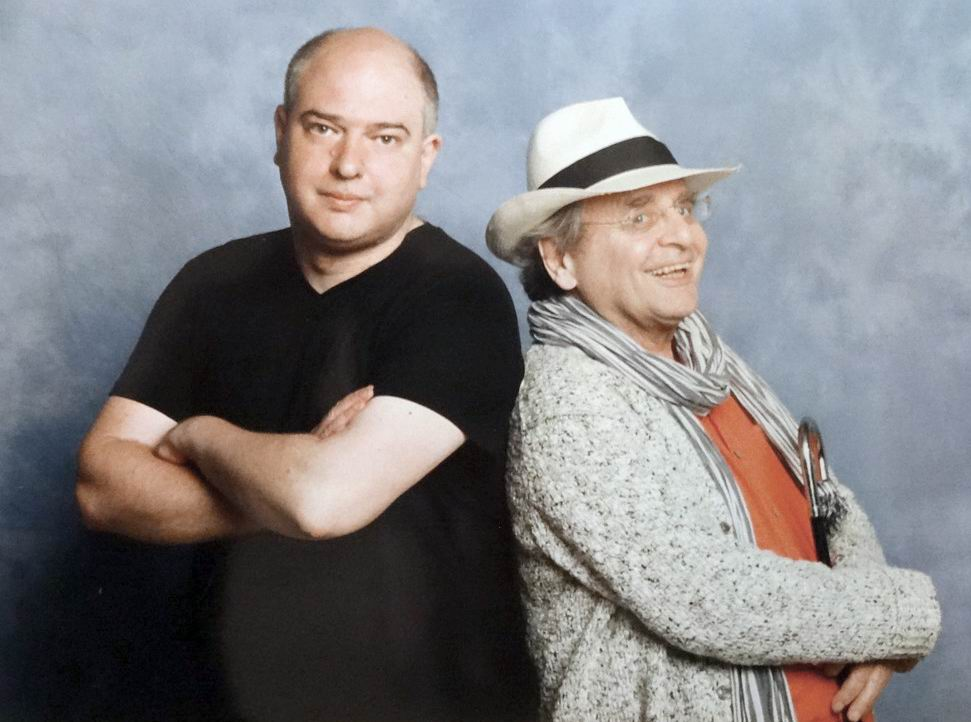 Andrew O'Day and Sylvester McCoy