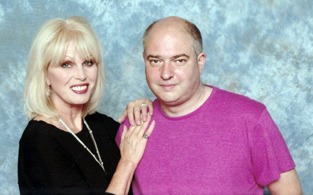 Andrew O'Day and Joanna Lumley