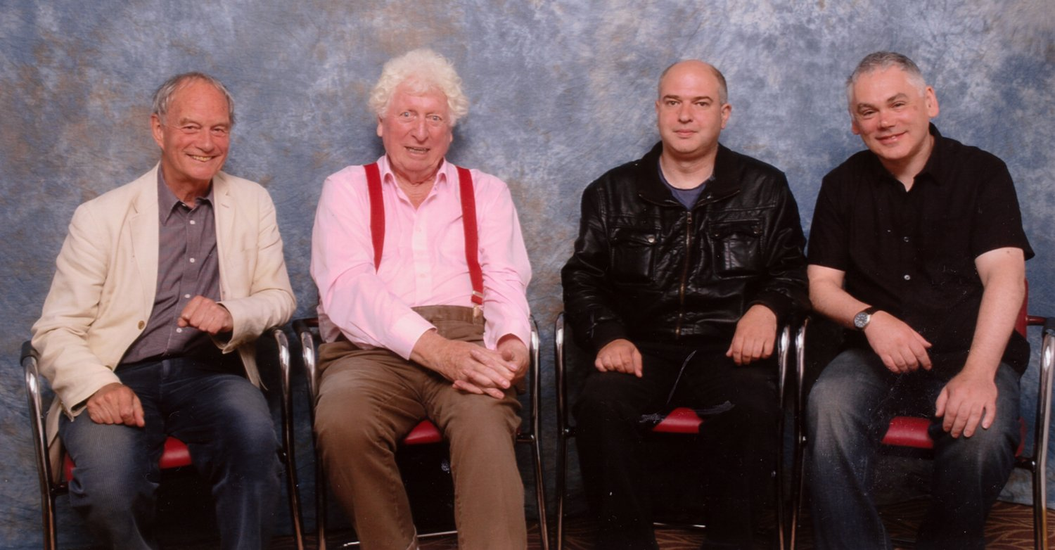Geoffrey Beevers, Lord of the Doctors Tom Baker, Andrew O'Day, Matthew Waterhouse