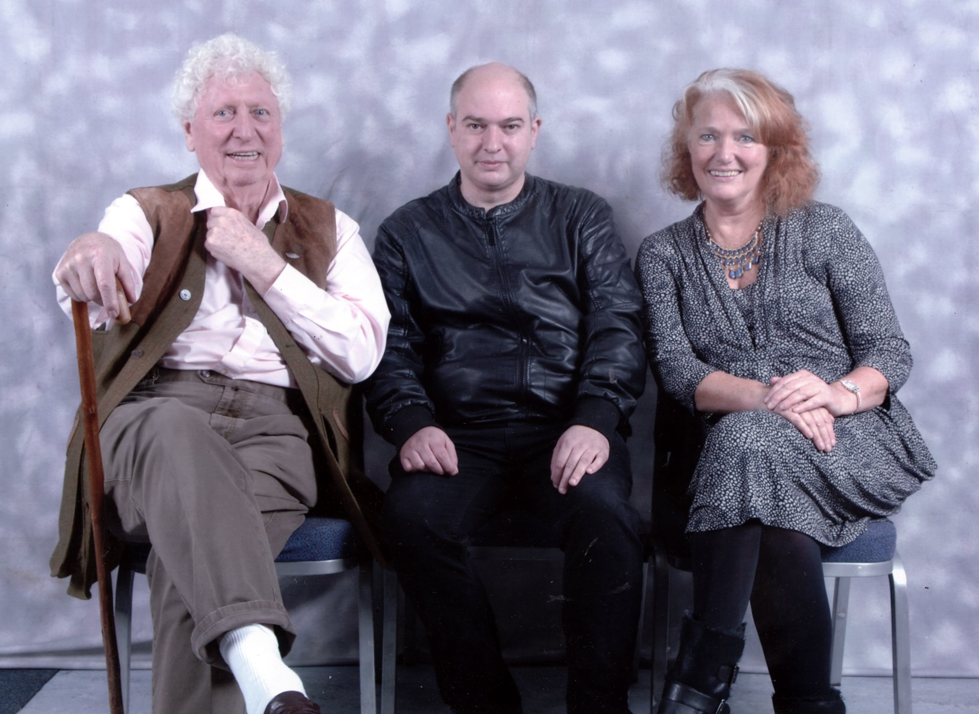 Andrew O'Day with Tom Baker, Louise Jameson