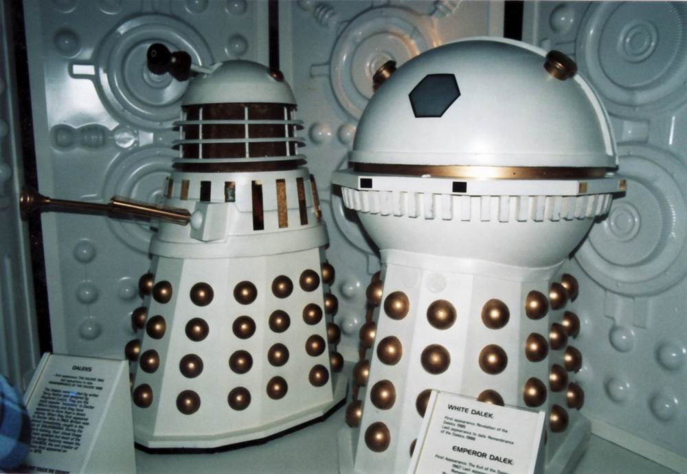 MOMI Behind The Sofa Exhibition - Dalek and Emperor