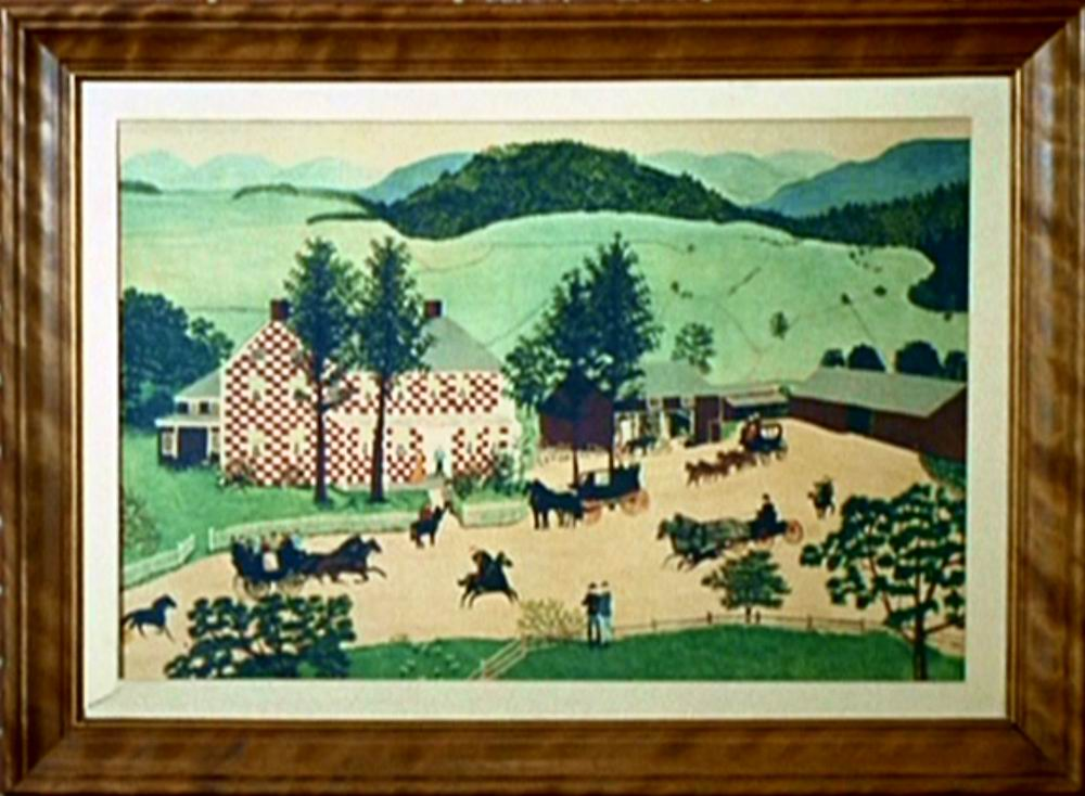 The Old Checkered House by Grandma Moses