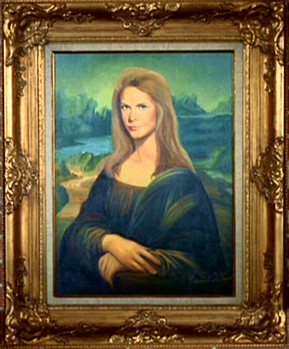 Elizabeth Montgomery Bewitched Mona Lisa painting