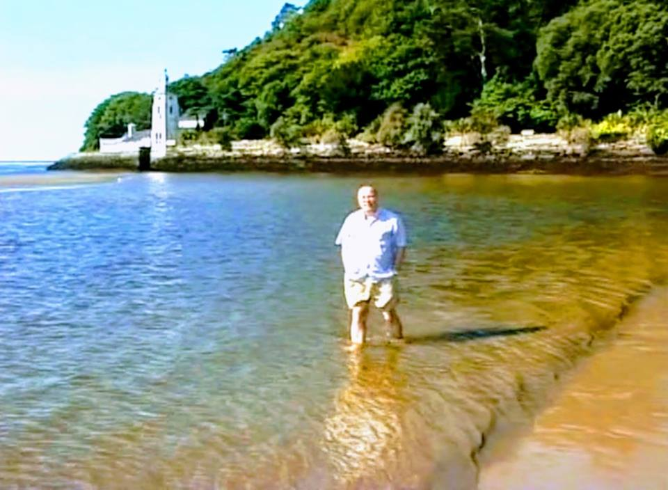 Tim Harris in Portmeirion, Wales (2003)