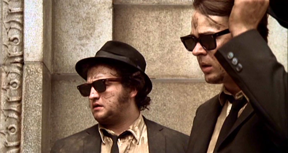 The Blues Brothers - Dan Aykroyd and John Belushi (as Elwood and Jake)